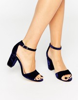 Miss KG Block Heeled Velvet Sandals