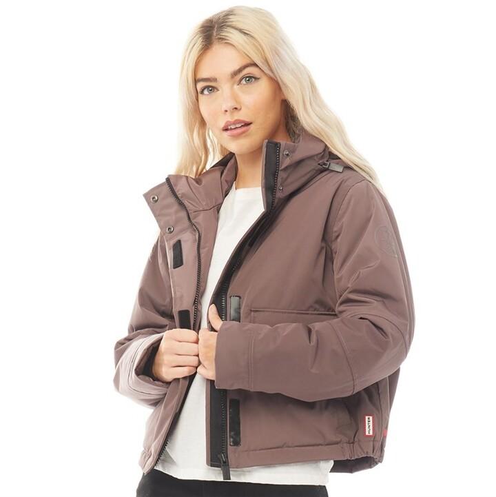 Hunter Womens Original Insulated Anorak Jacket Lough Brown