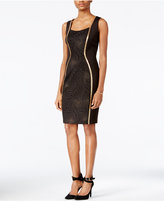 Jax Metallic-Trim Sheath Dress