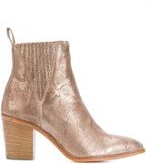 Diesel metallic slip-on ankle boots - women - Leather - 36