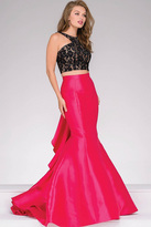 Jovani Black And Fuchsia Two-Piece Mermaid Prom Dress 42491