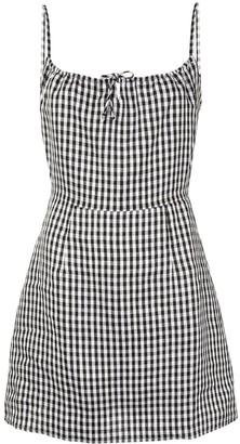 Reformation Violaine gingham mini-dress