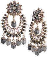Marchesa Gold-Tone Multi-Stone Chandelier Earrings