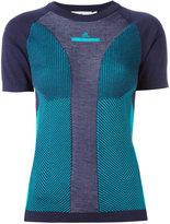 adidas by Stella McCartney Ultra T-shirt - women - Polyester/Lyocell/Wool - XS