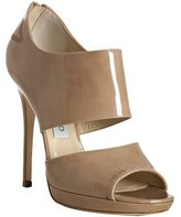 nude patent leather 'Private' sandals