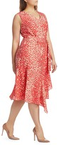 Thumbnail for your product : Lafayette 148 New York, Plus Size Telson Dotted Tie Dress