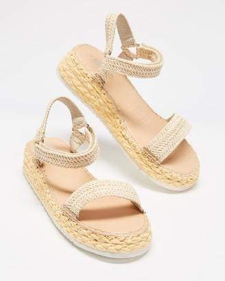 Human Premium - Women's Brown Flat Sandals - Railton Platform Sandals - Size 38 at The Iconic