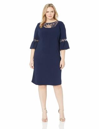 Maya Brooke Women's Plus Size Lace Detailed Dress