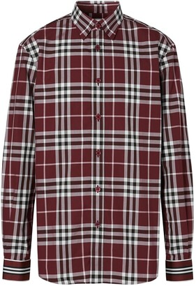 Burberry Check-Print Long-Sleeve Shirt