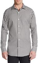 Saks Fifth Avenue BLACK Slim-Fit Gingham Check Cotton Sportshirt