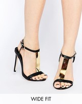 Asos HASHTAG Wide Fit Heeled Sandals