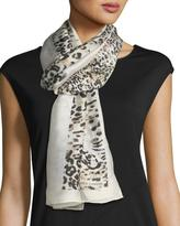 Vince Camuto Animal-Striped Oblong Silk Scarf