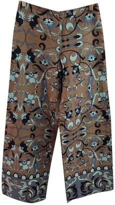 Maliparmi Beige Linen Trousers for Women