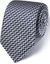 Charles Tyrwhitt Dark Navy Silk English Luxury End-On-End Tie