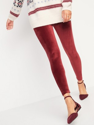 Old Navy High-Waisted Velvet Leggings for Women
