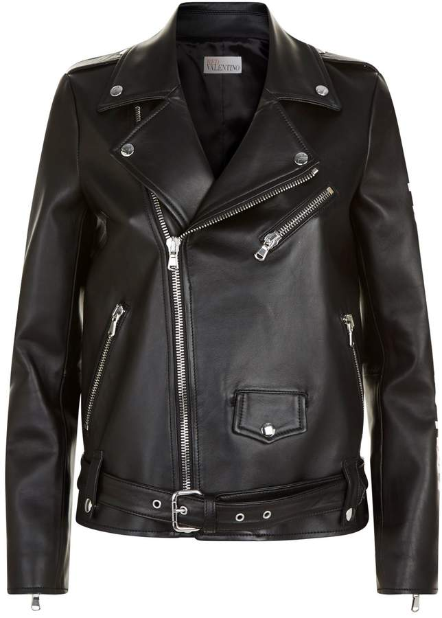 RED Valentino Forget Me Not Leather Jacket