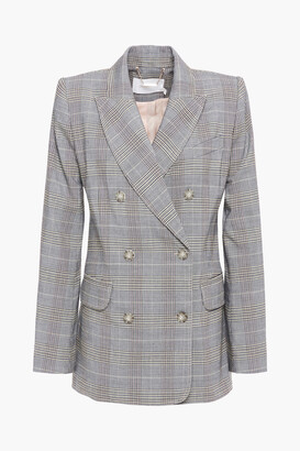 Zimmermann Double-breasted Prince Of Wales Checked Woven Blazer