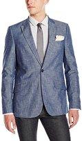 Perry Ellis Men's Slim Fit Chambray Suit Jacket