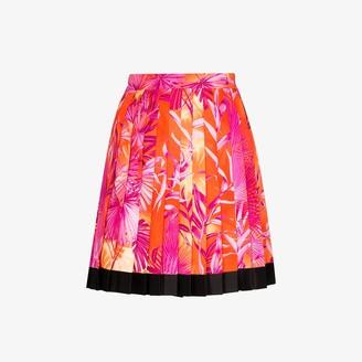 Versace Jungle print pleated mini skirt