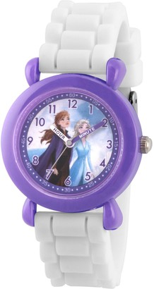 EWatchFactory Disney Frozen 2 Girls' Elsa & Anna White Silicone Watch