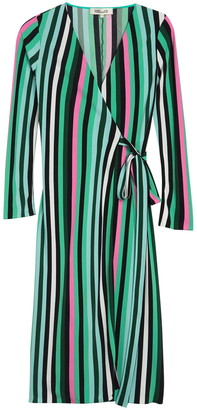 Diane von Furstenberg Tilly Striped Long Sleeve Wrap Dress
