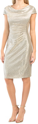 Cowl Neck Dress With Ruched Side
