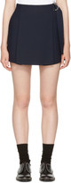 Carven Navy Belt Sash Shorts