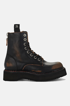 R 13 Single Stack Lace-Up Boots