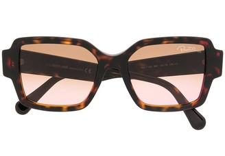 Roberto Cavalli Oversized Tortoiseshell Sunglasses