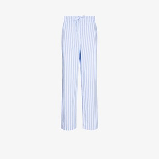 Tekla Organic Cotton Striped Pyjama Trousers