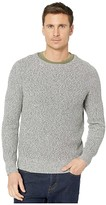 J.Crew Marled Cotton Raglan-Sleeve Crewneck Sweater (Marled Ocean View) Men's Clothing