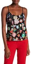 Cynthia Rowley Floral Embroidered Tulle Trapeze Tank Top