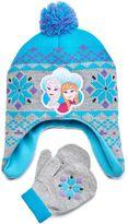Disney Disney's Frozen Anna & Elsa Toddler Girl Fleece Hat & Mittens Set