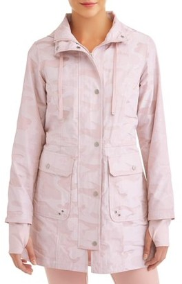 Athletic Works Women's Active Camo Anorak Hooded Jacket