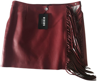 Versus Red Leather Skirt for Women