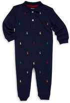 Ralph Lauren Baby Boy's Pony Cotton Interlock Coverall