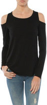 Chaser Cool Jersey Long Sleeve Shirttail Cold Shoulder Tee