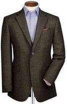 Charles Tyrwhitt Classic Fit Olive Birdseye Lambswool Wool Jacket Size 38