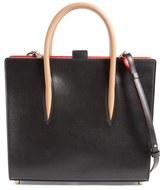 Christian Louboutin 'Medium Paloma' Calfskin Leather Tote - Black