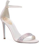 Rene Caovilla Powder Crystal Snake Sandals