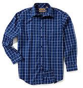 Roundtree & Yorke Gold Label Long-Sleeve Windowpane Non-Iron Sportshirt