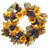 NATIONAL TREE CO National Tree Co 22 Inch Pumpkin And Sunflowers Wreath