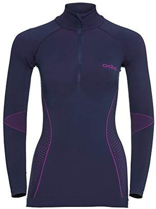 Odlo Women's Evolution Warm Shirt L/s Cn Long Sleeve Top,(Size: Medium)