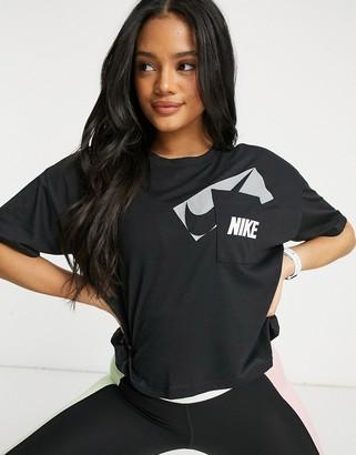Nike Training Dry crop top in black