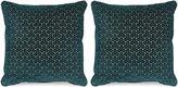 Miles Talbott Collection S/2 Varro 20x20 Pillows, Teal