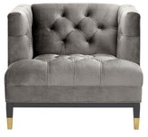 Eichholtz Castelle Cube Armchair Upholstery Color: Purpoise Gray