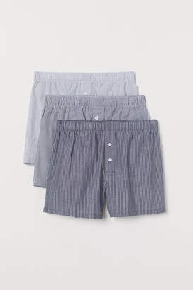 H&M 3-pack Woven Boxer Shorts - White