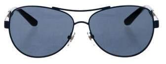a4143fe54c826 Blue Tint Aviator Sunglasses - ShopStyle