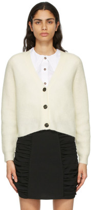 Ganni Off-White Alpaca Soft Cardigan