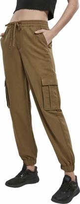 Urban Classics Women's Hose Ladies Viscose Twill Cargo Pants Dress